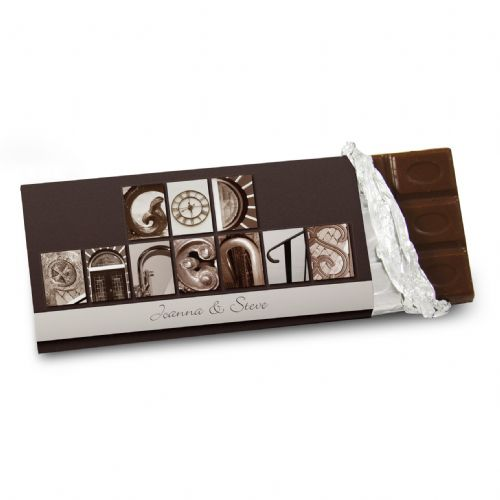 Personalised Affection Art Godparents Chocolate Bar